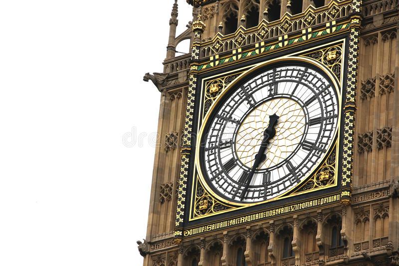 Download Big Ben  Clock Isolated On White Stock Photo - Image: 28329154