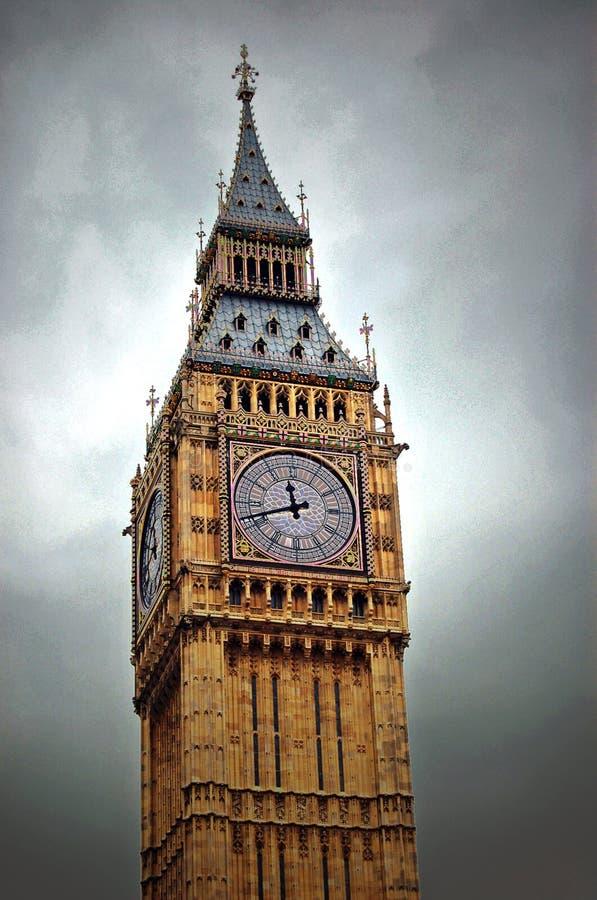 Big Ben Clock London England. An artistic variation of the Big Ben Clock tower in London England royalty free stock photography