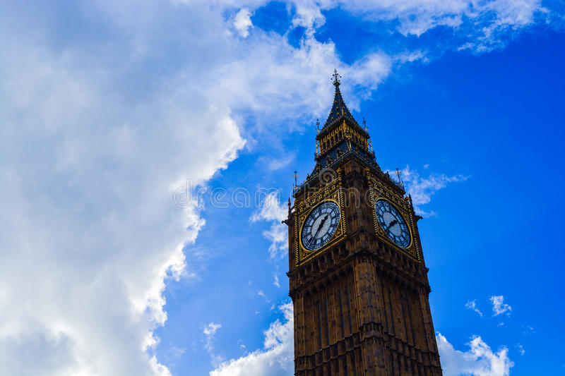 Big Ben Clock in London. A picture of Big Ben in the capital of England - London royalty free stock image
