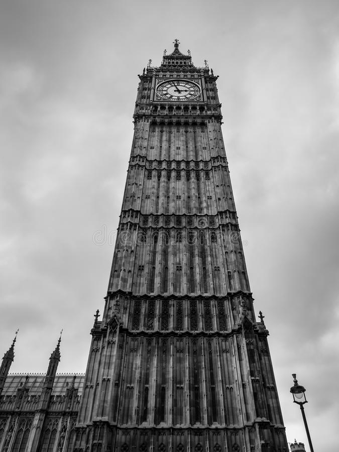 Big Ben against cloudy sky stock image