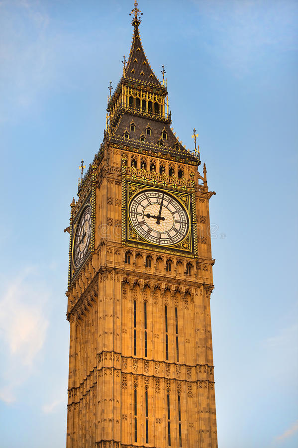 Big Ben Clock Tower ( Elizabeth Tower ) stock image