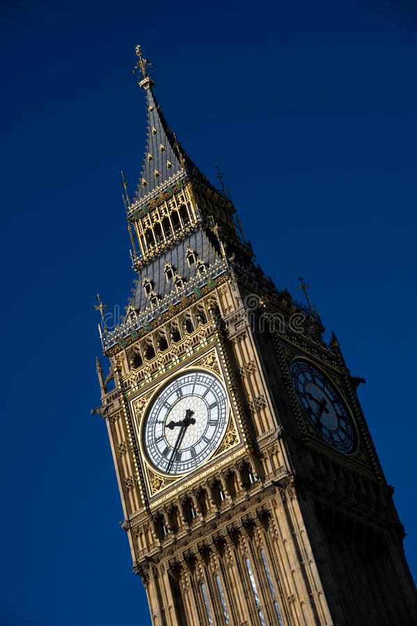 Download Big Ben Clocktower Against A Clear Blue Sky Editorial Photo - Image: 37993381