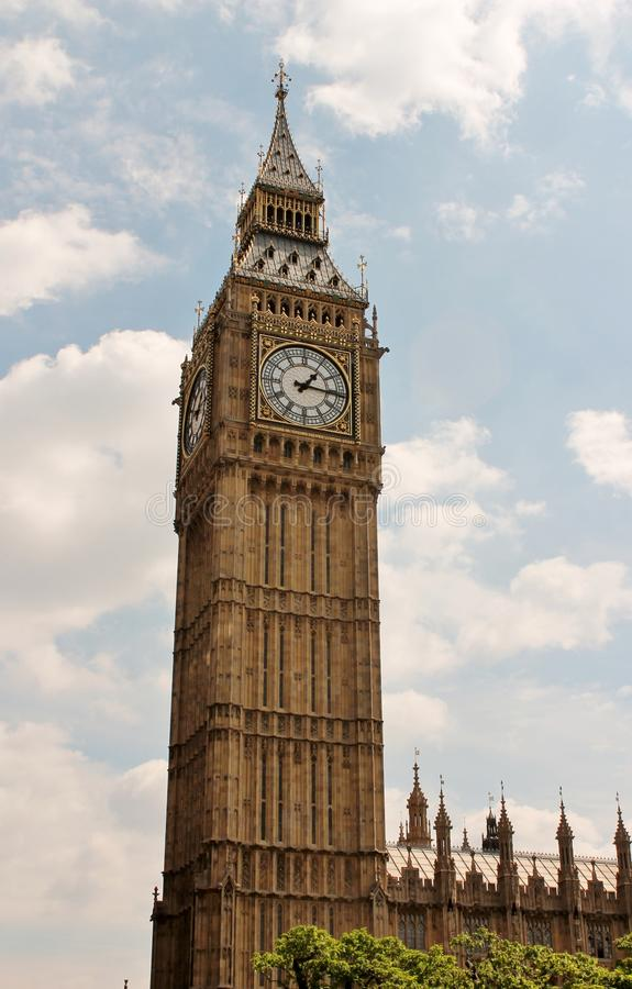 Big Ben clocktower Londen royalty-vrije stock foto's