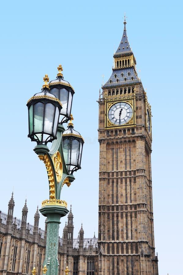 Big Ben com uma lâmpada ornamentado foto de stock royalty free