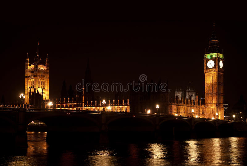 Download The Big Ben From The Distance Stock Image - Image of nighttime, united: 19944877