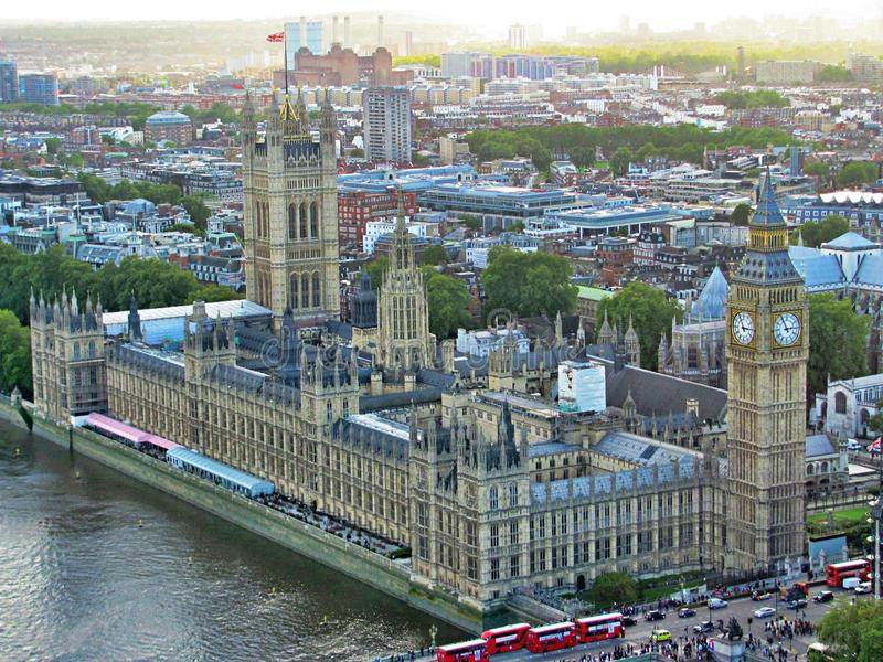 Big Ben do olho de Londres, Inglaterra fotos de stock royalty free