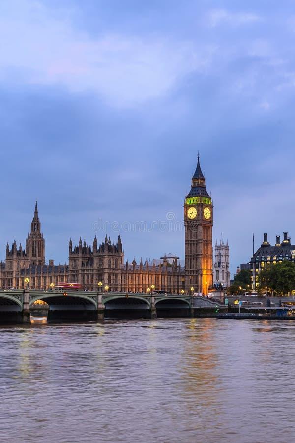 Big Ben e casa do parlamento, Londres, Reino Unido imagens de stock