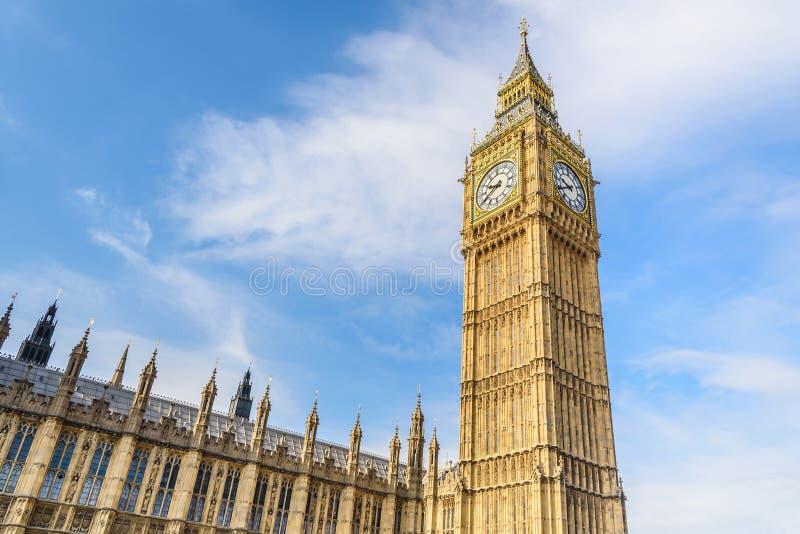 Big Ben e casa do parlamento, Londres, Reino Unido imagem de stock