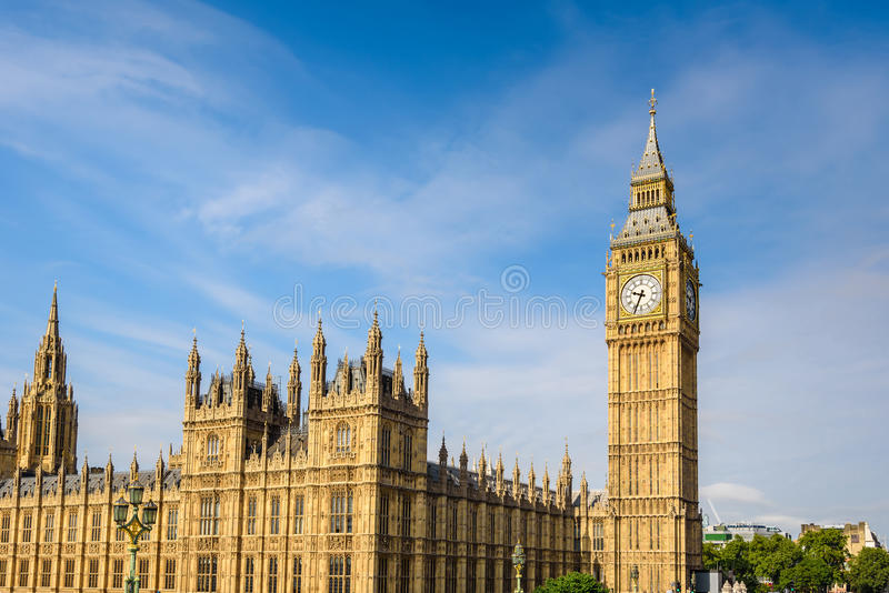 Big Ben e casa do parlamento, Londres, Reino Unido foto de stock