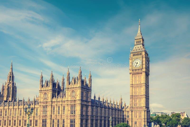 Big Ben e casa do parlamento, Londres, Reino Unido fotografia de stock