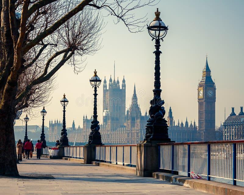 Big Ben e casas do parlamento, Londres imagens de stock