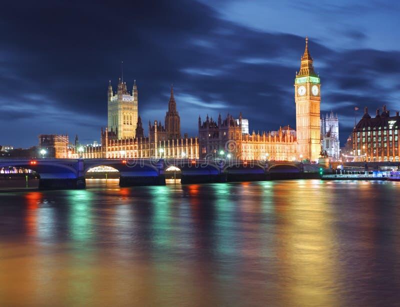 Big Ben e casas do parlamento, Londres, Reino Unido fotografia de stock