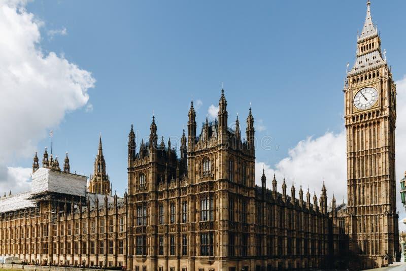 Big Ben e casas do parlamento, Londres, Reino Unido fotos de stock royalty free