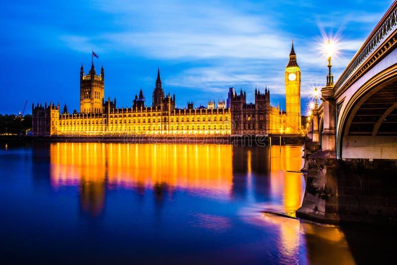 Big Ben e Parlament Londres fotografia de stock
