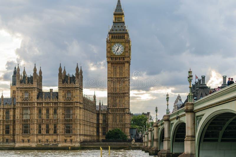 Big Ben em um dia nebuloso imagem de stock royalty free