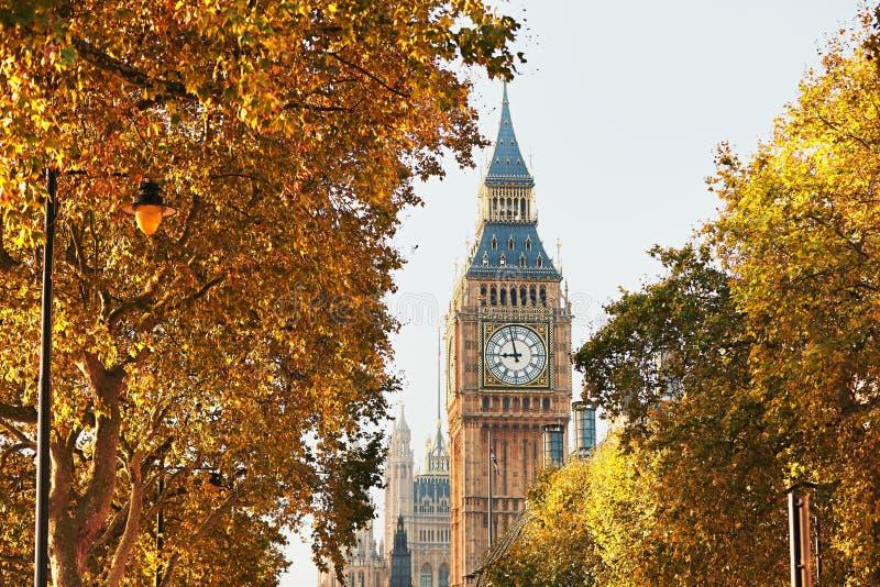 Big Ben en día soleado del otoño fotografía de archivo libre de regalías