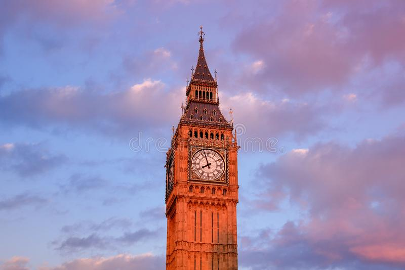 Big Ben en de abdij van Westminster in Londen, Engeland stock foto