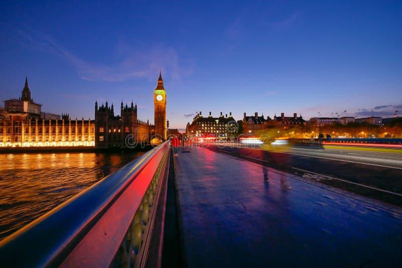 Big Ben en de abdij van Westminster in Londen, Engeland royalty-vrije stock foto's