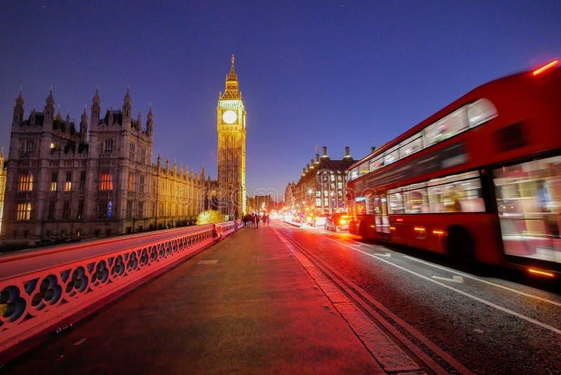 Big Ben en de abdij van Westminster in Londen, Engeland royalty-vrije stock foto