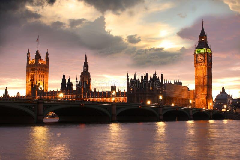 Big Ben in the evening, Westminster, London. Big Ben in the evening, London, UK royalty free stock image