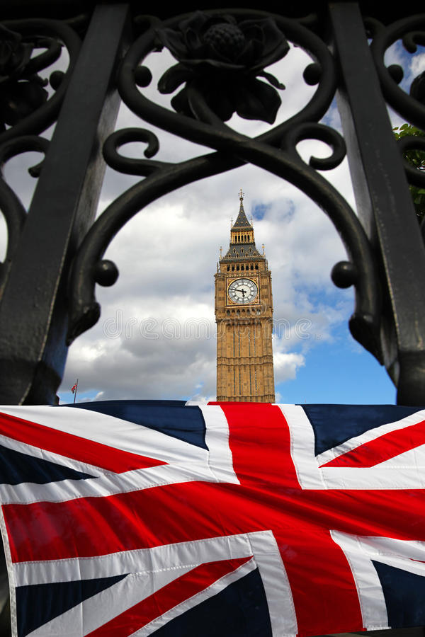 Download Big Ben With Flag, Westminster, London Stock Photo - Image: 22006230