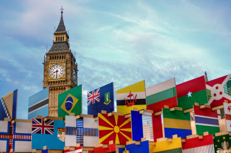 Download Big Ben and flags stock image. Image of flags, westminster - 26791403