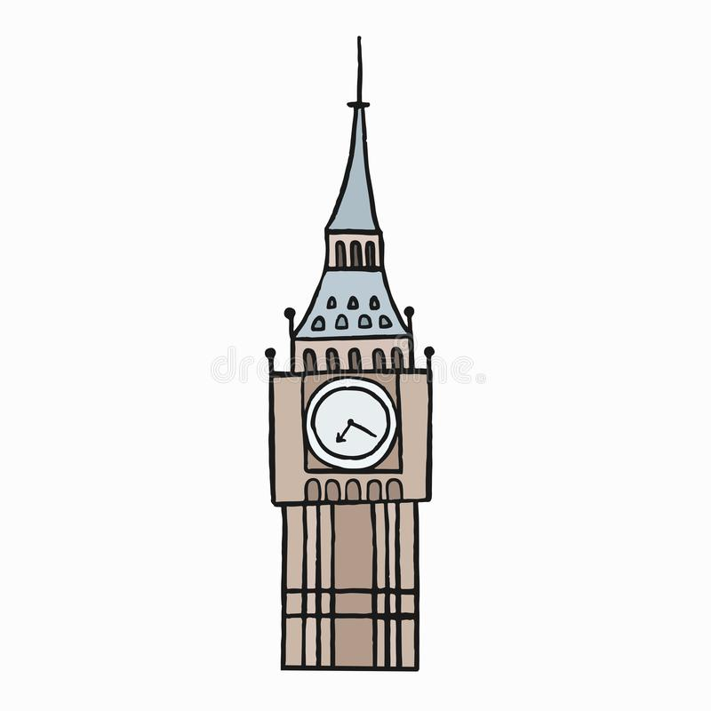 Big Ben, the Great Bell of the clock illustration royalty free illustration