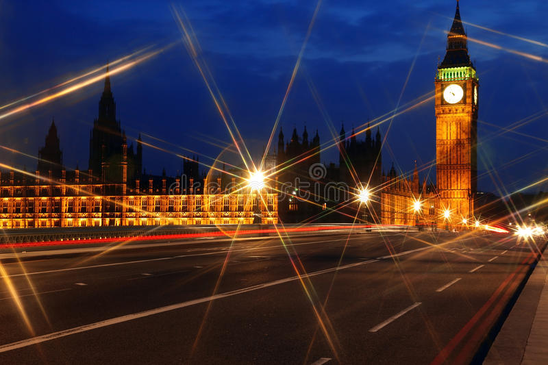 Big Ben And The House Of Parliament At Night Royalty Free Stock Photos