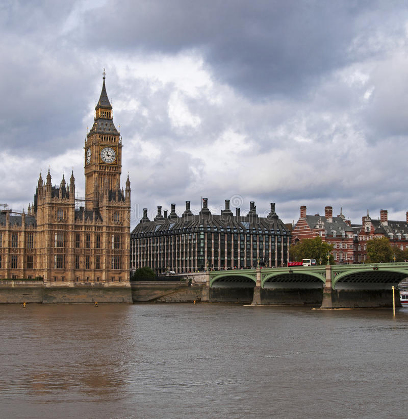 Big Ben & the Houses of Parliament royalty free stock photos