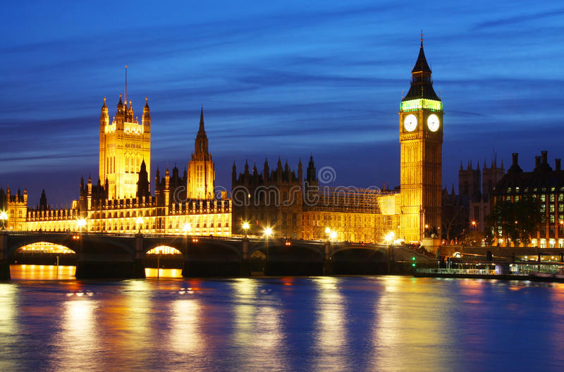 Big Ben & Houses of Parliament in London royalty free stock image