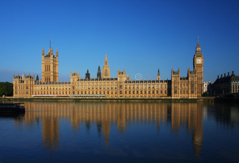 Big Ben and Houses of Parliament in London stock photography