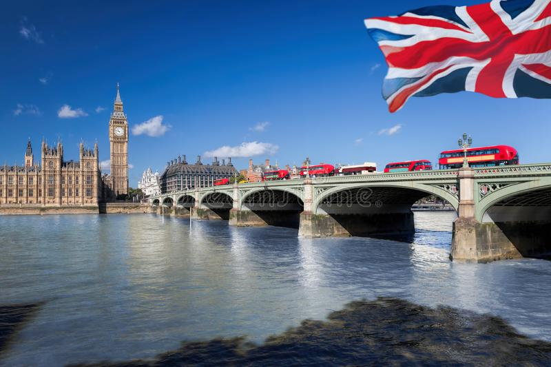 Big Ben and Houses of Parliament in London, England, UK stock image