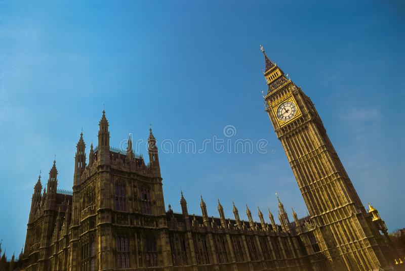 Big Ben and the Houses of Parliament, London, England royalty free stock images
