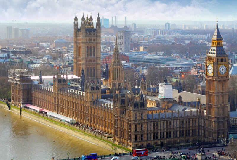 Big Ben and Houses of Parliament, London, UK stock image