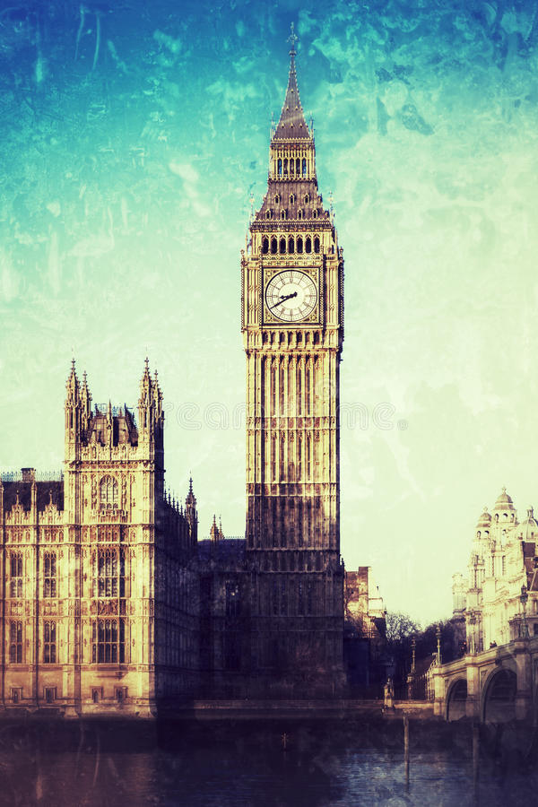 Big Ben i centrala London arkivfoto