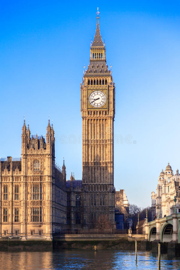 Big Ben i centrala London fotografering för bildbyråer