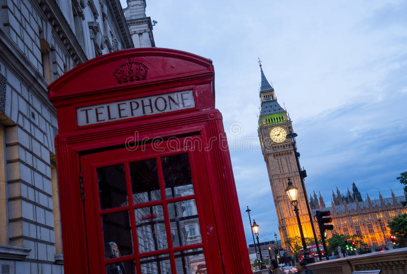 Big Ben i opactwo abbey w Londyn, Anglia fotografia stock