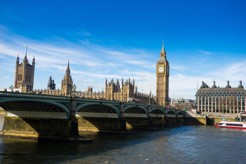 Big Ben i opactwo abbey w Londyn, Anglia zdjęcia royalty free
