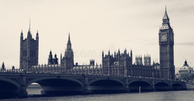 Big Ben i parlamentu rocznik zdjęcie royalty free