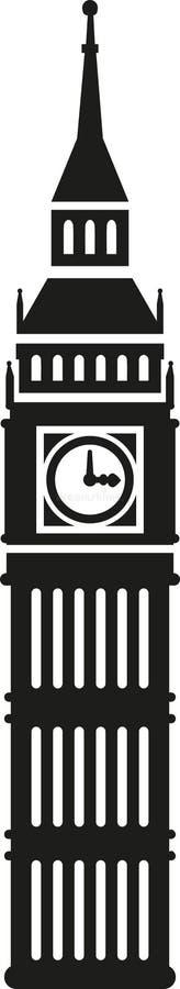 Big ben icon. London england vector stock illustration