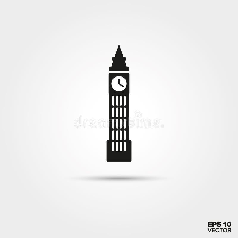 Big Ben Icon. Big Ben, The Elizabeth Tower at London, England. EPS 10 Vector icon vector illustration