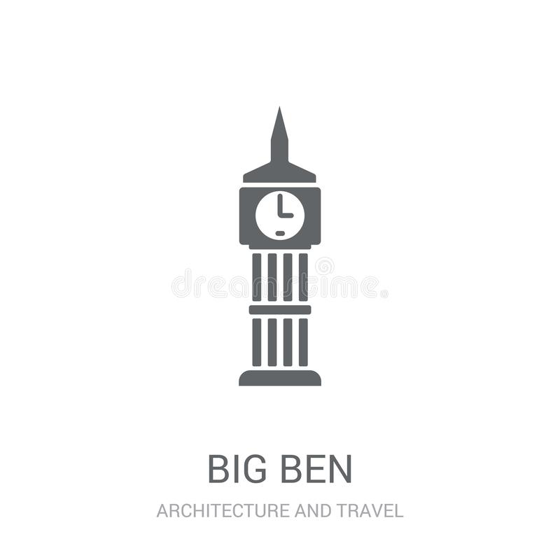 Big ben icon. Trendy Big ben logo concept on white background fr. Om Architecture and Travel collection. Suitable for use on web apps, mobile apps and print vector illustration