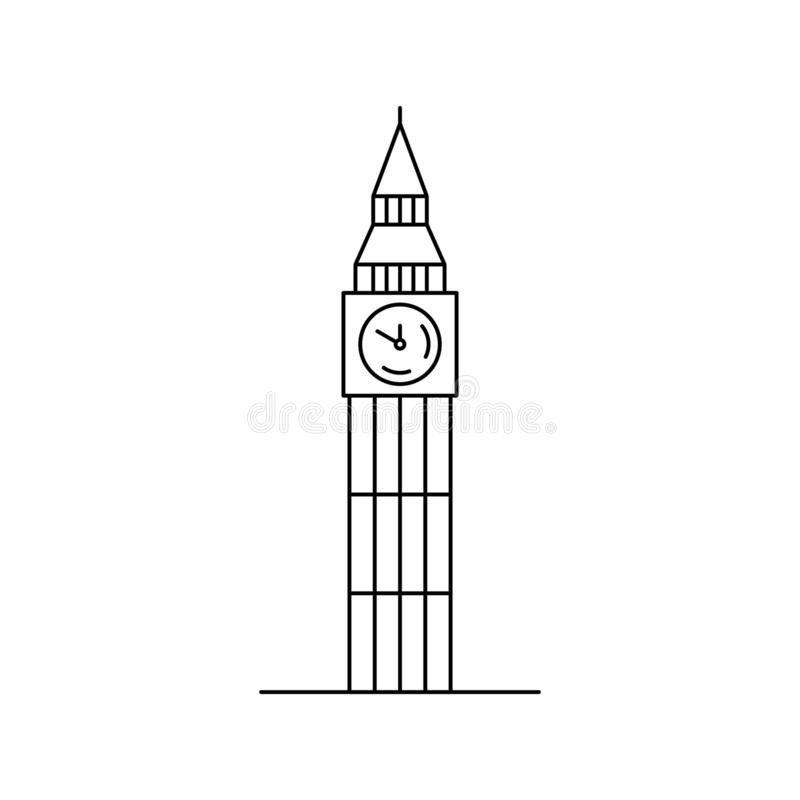 Big ben icon. vector illustration. Big ben icon. isolated on white background royalty free illustration