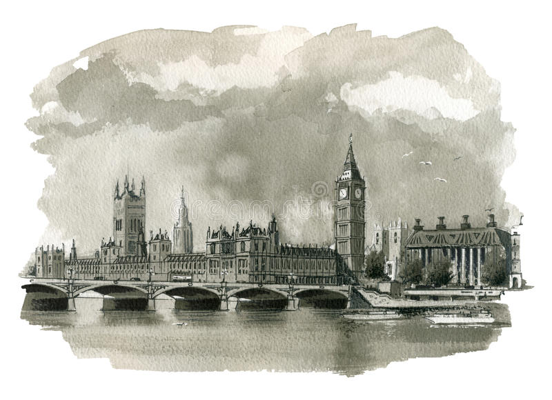 Big Ben Illustration royalty free illustration