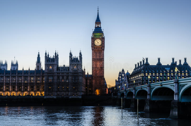 Big Ben just before Sunset royalty free stock images