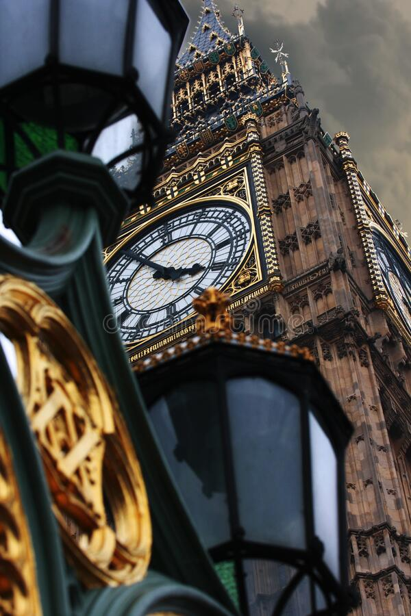 Big Ben klockatorn, London, England royaltyfria bilder