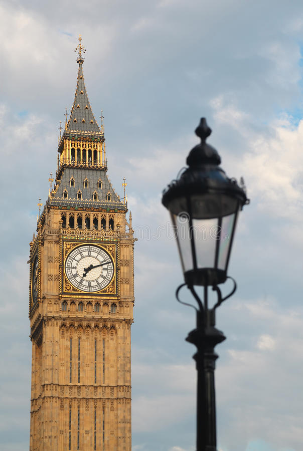 Download Big Ben And Latern. Focus On Big Ben. Stock Image - Image: 17413323