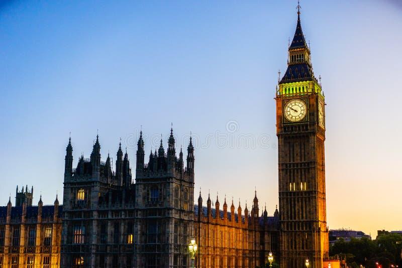 Big Ben, Londen, Engeland, het UK royalty-vrije stock afbeeldingen