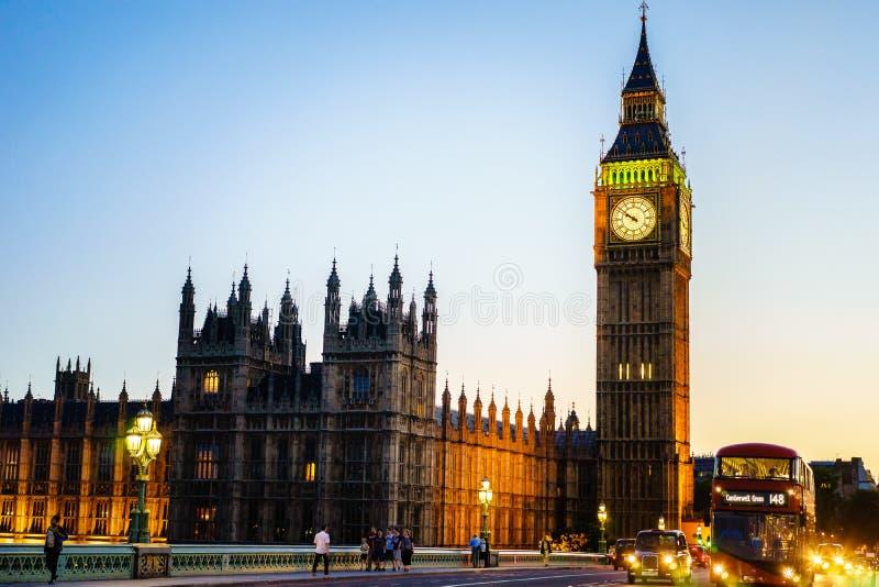 Big Ben, Londen, Engeland, het UK stock fotografie