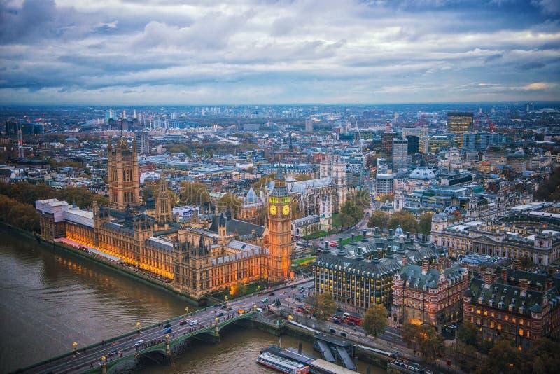 Big Ben, Londen het UK stock afbeelding